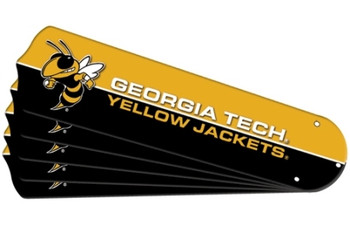 "NCAA Georgia Tech Yellow Jackets Ceiling Fan Blades For 42"" Fans"