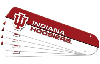 "NCAA Indiana Hoosiers Ceiling Fan Blades For 52"" Fans"