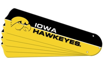 "NCAA Iowa Hawkeyes Ceiling Fan Blades For 52"" Fans"