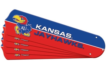 "NCAA Kansas Jayhawks Ceiling Fan Blades For 42"" Fans"