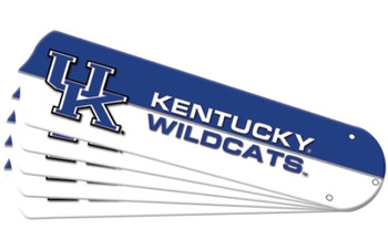 "NCAA Kentucky Wildcats Ceiling Fan Blades For 52"" Fans"