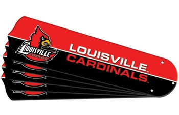 "NCAA Louisville Cardinals Ceiling Fan Blades For 52"" Fans"