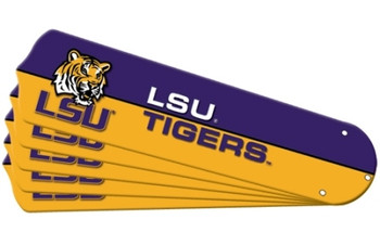"NCAA LSU Tigers Ceiling Fan Blades For 52"" Fans"
