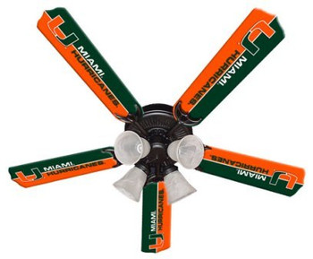 "NCAA Miami Hurricanes 52"" Ceiling Fan"