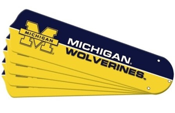 "NCAA Michigan Wolverines Ceiling Fan Blades For 42"" Fans, 7992-MIC"