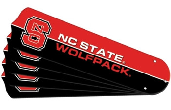 "NCAA NC State Wolfpack Ceiling Fan Blades For 52"" Fans"