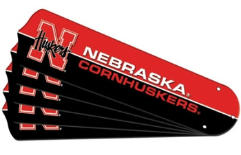 "NCAA Nebraska Cornhuskers Ceiling Fan Blades For 52"" Fans"