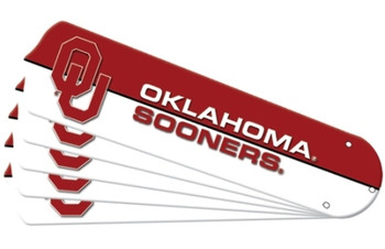 "NCAA Oklahoma Sooners Ceiling Fan Blades For 52"" Fans"