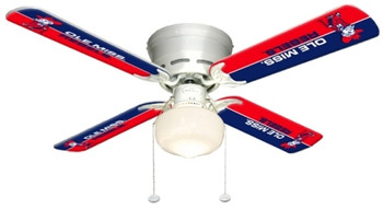 "NCAA Ole Mississippi Rebels 42"" Ceiling Fan"
