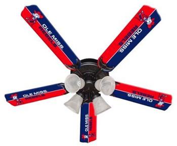 """NCAA Ole Mississippi Rebels 52"""" Ceiling Fan"""