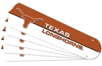 "NCAA Texas Longhorns Ceiling Fan Blades For 52"" Fans"