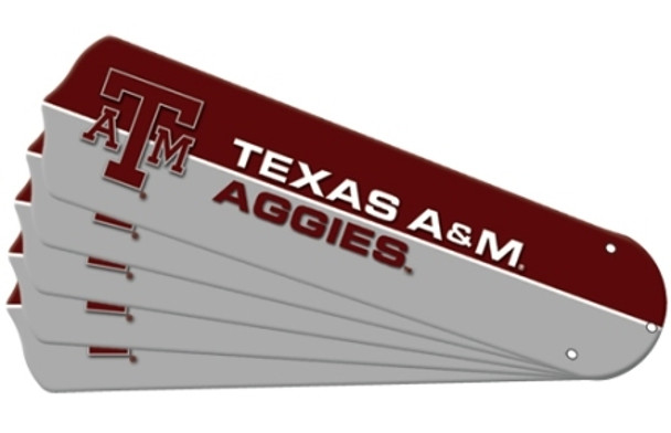 "NCAA Texas A&M Aggies Ceiling Fan Blades For 52"" Fans"