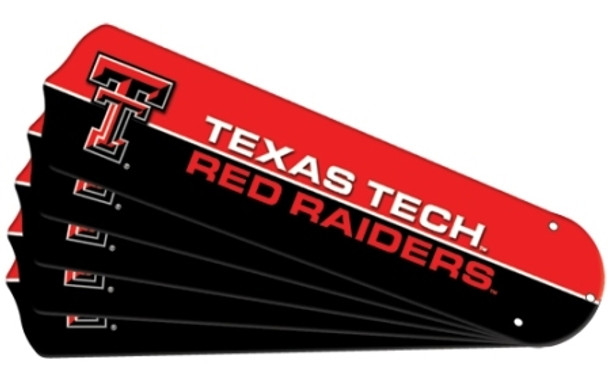 "NCAA Texas Tech Red Raiders Ceiling Fan Blades For 42"" Fans"