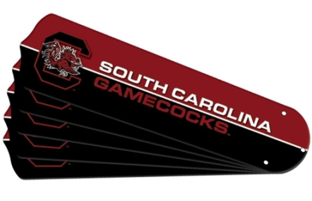 "NCAA USC South Carolina Gamecocks Ceiling Fan Blades For 52"" Fans"