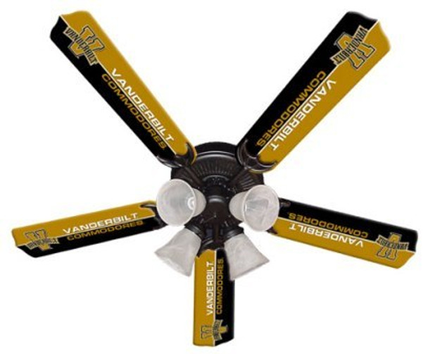 "NCAA Vanderbuilt Commodores 52"" Ceiling Fan"