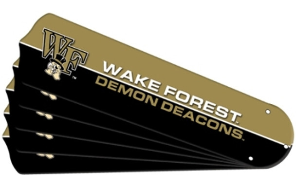 "NCAA Wake Forest Demon Deacons Ceiling Fan Blades For 52"" Fans"