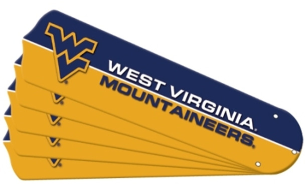 "NCAA West Virginia Mountaineers Ceiling Fan Blades For 52"" Fans"