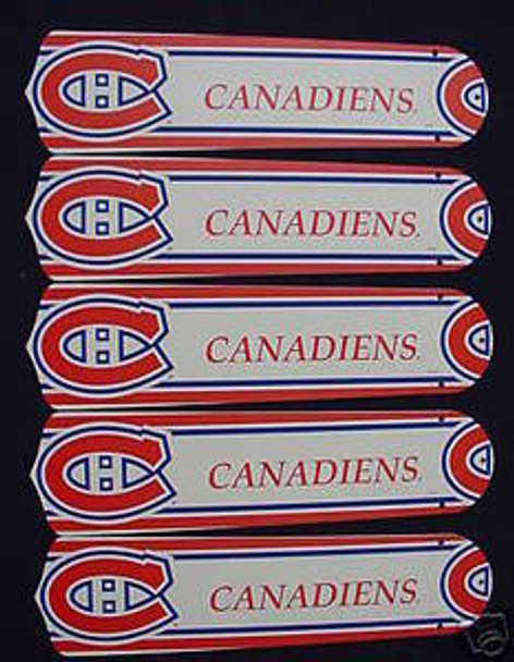 """NHL Montreal Canadians 52"""" Ceiling Fan Blades Only"""
