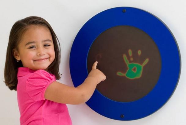 Blue Magic Circle Wall Activity