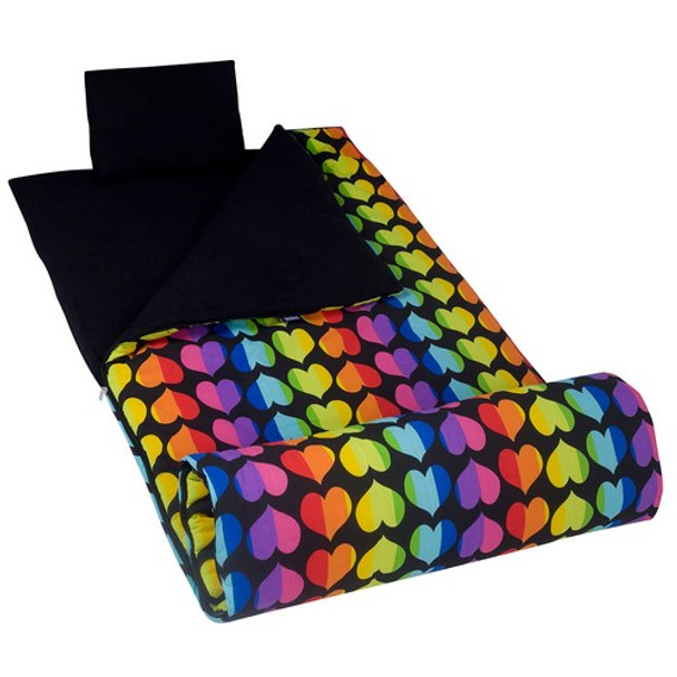 Wildkin Rainbow Hearts Original Sleeping Bag
