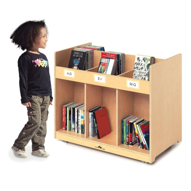 Mobile Library Book Cabinet