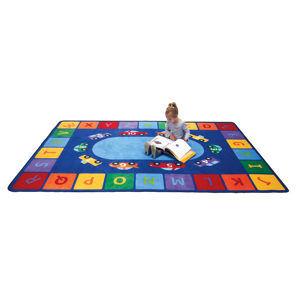 Alphabet Cars - Rectangle Large Rug