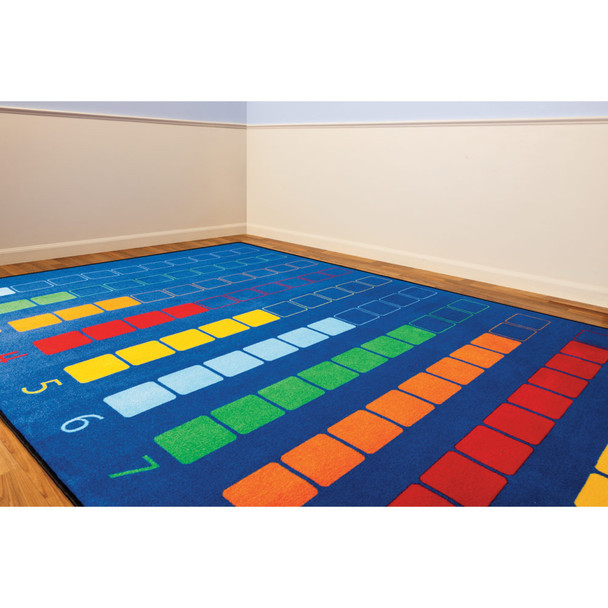 Counting Color Grid - Rectangle Small Rug