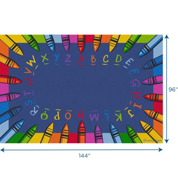 Alphabet Crayon - Rectangle Large Rug