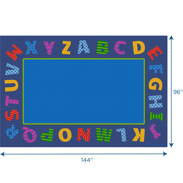 Boarder Alphabet Scramble - Rectangle Large Rug