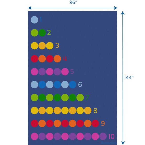Counting Color Dots - Rectangle Large Rug