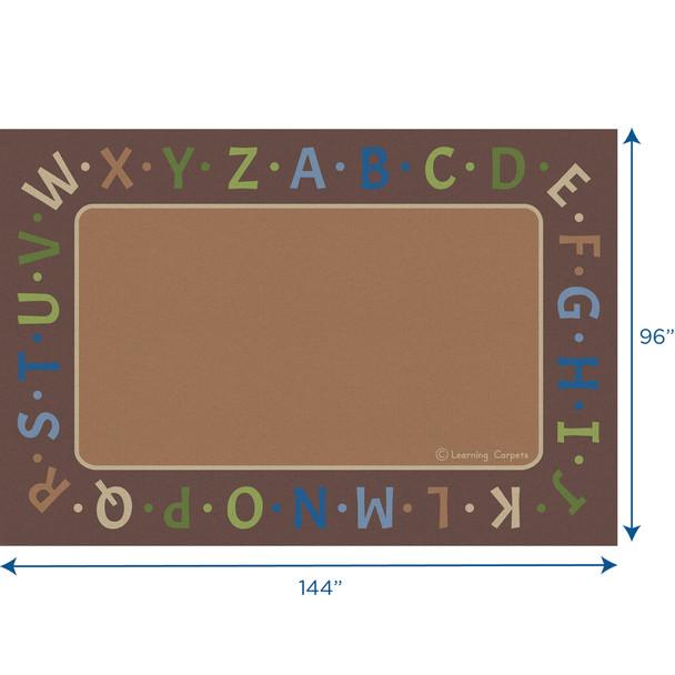 Alphabet Border Woodtones - Rectangle Large Rug