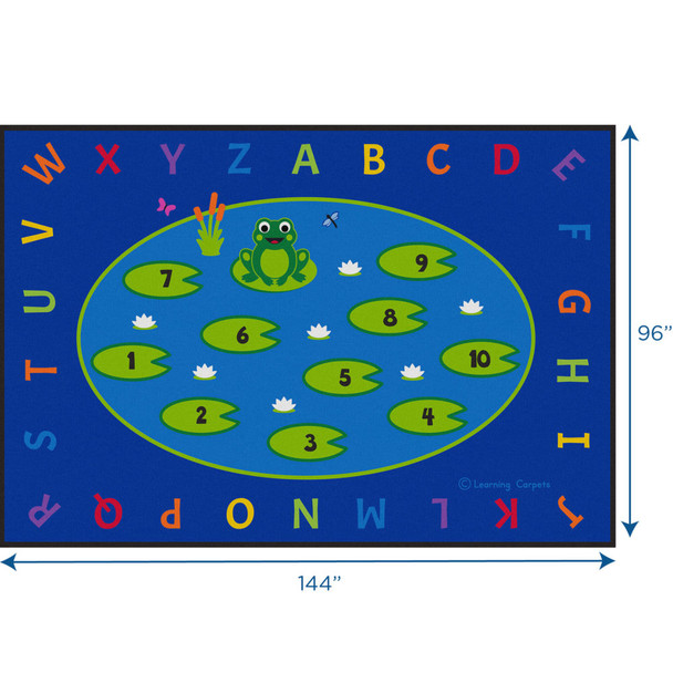 Lily Pad Counting Fun - Rectangle Large Rug 1