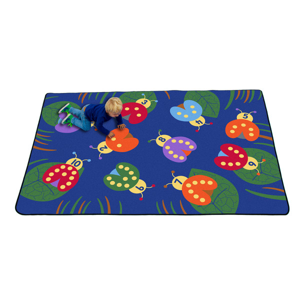 Counting with Lady Bugs - Rectangle Large Rug