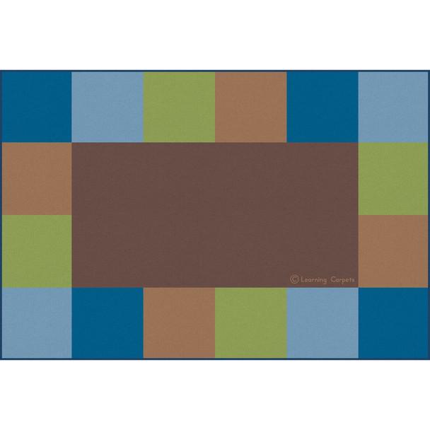 Grid Border Woodtone - Rectangle Large Rug