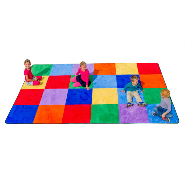 Colorful Grid - Rectangle Large Rug