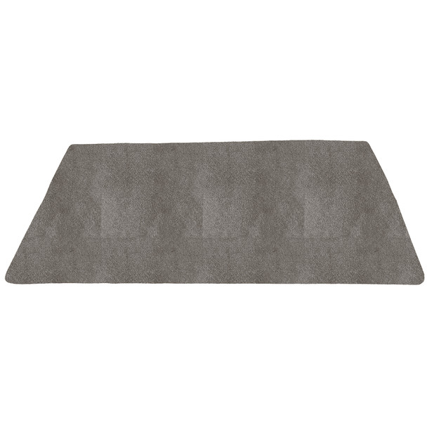 Gray Solid - Rectangle Large Rug