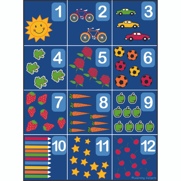 Counting Rug 1-12 - Rectangle Large Rug
