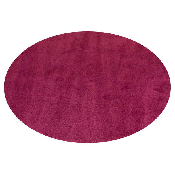 Cranberry Solid - Round Small Rug, CPR868R