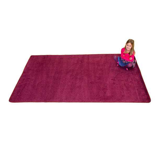 Cranberry Solid - Rectangle Large Rug