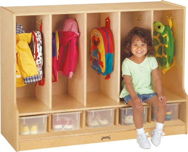 Jonti-Craft Toddler Coat Locker with Step 2