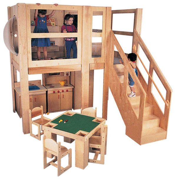 Mainstream Explorer 5 Preschool Loft - Steps on Right (Standard shown; Loft only,)