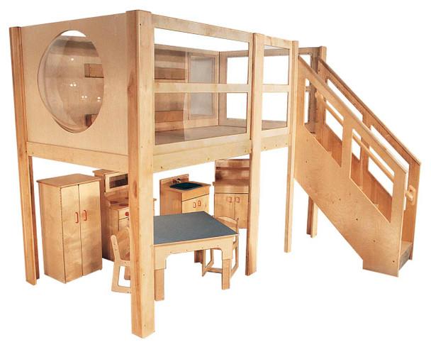 Mainstream Explorer 5 Expanded Preschool Loft, 120''w x 60''d x 52''h