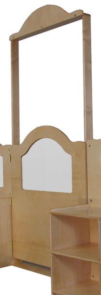 Mainstream Short Door w/Frame, Wave Design & Cap, 36''w x 6''d x 84''h 1