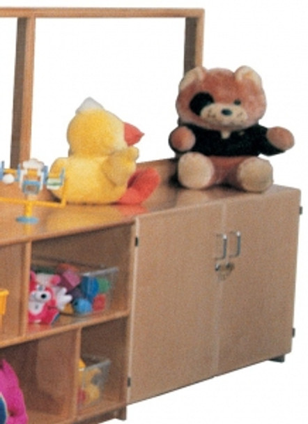 Deluxe Room Divider with 24''h Teacher's Cabinet 1