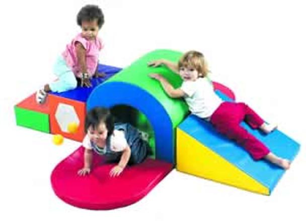 Children's Factory Alpine Tunnel Slide Soft Climber 1