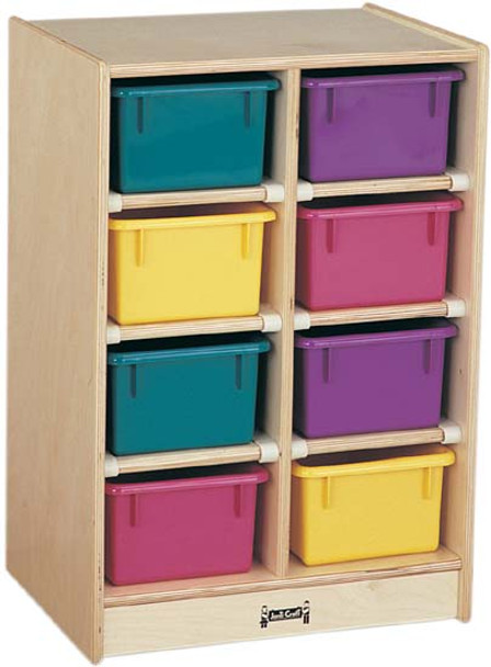 Jonti-Craft 8 Tray Mobile Storage with Trays 1