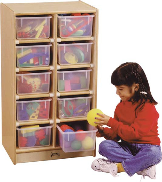 Jonti-Craft 10 Tray Mobile Storage with Trays 1