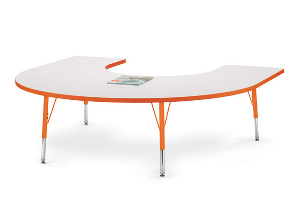 Jonti-Craft Jonti Craft Rainbow Accents KYDZ Horseshoe Classroom Table 1