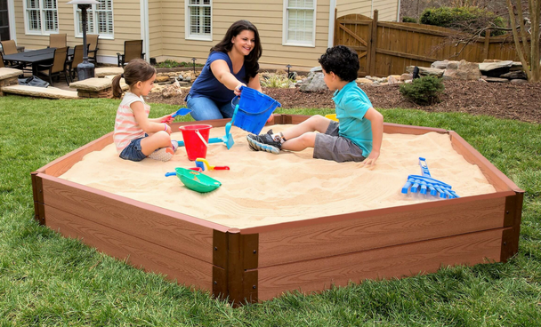 Hexagon Wooden Sandbox Kit