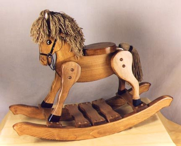 Classic Heirloom Wooden Rocking Horse